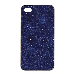 Awesome Allover Stars 01b Apple Iphone 4/4s Seamless Case (black) by MoreColorsinLife
