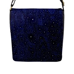 Awesome Allover Stars 01b Flap Messenger Bag (l)  by MoreColorsinLife
