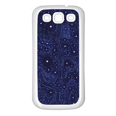Awesome Allover Stars 01b Samsung Galaxy S3 Back Case (white) by MoreColorsinLife