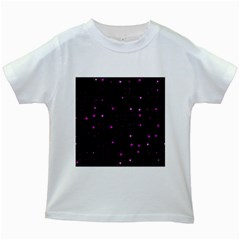 Awesome Allover Stars 02d Kids White T Shirts by MoreColorsinLife