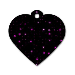 Awesome Allover Stars 02d Dog Tag Heart (two Sides) by MoreColorsinLife
