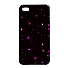 Awesome Allover Stars 02d Apple Iphone 4/4s Seamless Case (black) by MoreColorsinLife