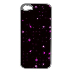 Awesome Allover Stars 02d Apple Iphone 5 Case (silver) by MoreColorsinLife