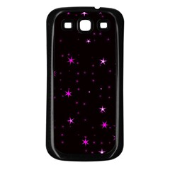 Awesome Allover Stars 02d Samsung Galaxy S3 Back Case (black) by MoreColorsinLife