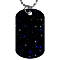Awesome Allover Stars 02 Dog Tag (two Sides) by MoreColorsinLife