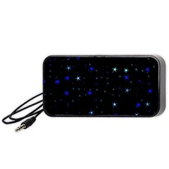 Awesome Allover Stars 02 Portable Speaker (black) by MoreColorsinLife