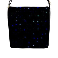 Awesome Allover Stars 02 Flap Messenger Bag (l)  by MoreColorsinLife