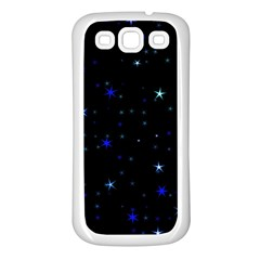 Awesome Allover Stars 02 Samsung Galaxy S3 Back Case (white) by MoreColorsinLife