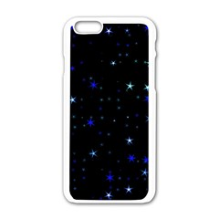 Awesome Allover Stars 02 Apple Iphone 6/6s White Enamel Case by MoreColorsinLife
