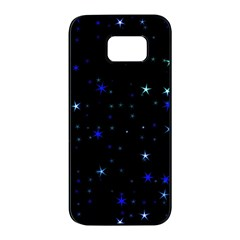 Awesome Allover Stars 02 Samsung Galaxy S7 Edge Black Seamless Case by MoreColorsinLife