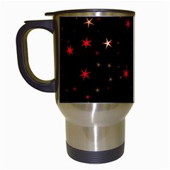 Awesome Allover Stars 02b Travel Mugs (white) by MoreColorsinLife