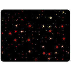 Awesome Allover Stars 02b Fleece Blanket (large)  by MoreColorsinLife