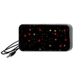 Awesome Allover Stars 02b Portable Speaker (black) by MoreColorsinLife