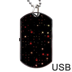 Awesome Allover Stars 02b Dog Tag Usb Flash (two Sides) by MoreColorsinLife