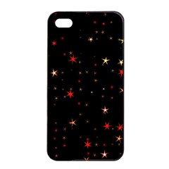 Awesome Allover Stars 02b Apple Iphone 4/4s Seamless Case (black) by MoreColorsinLife