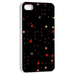 Awesome Allover Stars 02b Apple Iphone 4/4s Seamless Case (white) by MoreColorsinLife