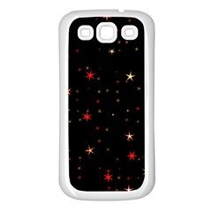 Awesome Allover Stars 02b Samsung Galaxy S3 Back Case (white) by MoreColorsinLife