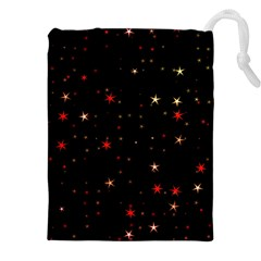 Awesome Allover Stars 02b Drawstring Pouches (xxl) by MoreColorsinLife