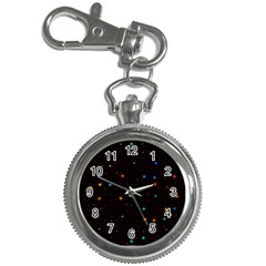 Awesome Allover Stars 02e Key Chain Watches by MoreColorsinLife