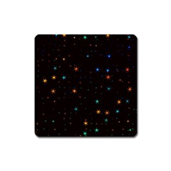 Awesome Allover Stars 02e Square Magnet by MoreColorsinLife