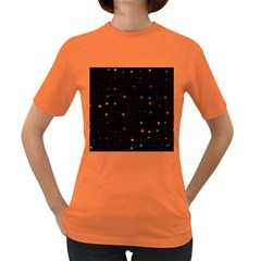 Awesome Allover Stars 02e Women s Dark T-shirt by MoreColorsinLife