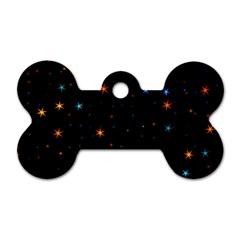 Awesome Allover Stars 02e Dog Tag Bone (two Sides) by MoreColorsinLife