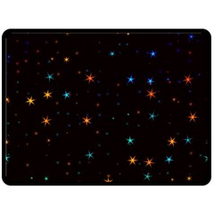 Awesome Allover Stars 02e Fleece Blanket (large)  by MoreColorsinLife
