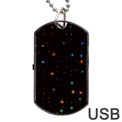 Awesome Allover Stars 02e Dog Tag Usb Flash (two Sides) by MoreColorsinLife