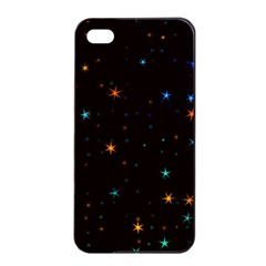 Awesome Allover Stars 02e Apple Iphone 4/4s Seamless Case (black) by MoreColorsinLife
