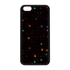 Awesome Allover Stars 02e Apple Iphone 5c Seamless Case (black) by MoreColorsinLife