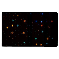 Awesome Allover Stars 02e Apple Ipad Pro 9 7   Flip Case by MoreColorsinLife