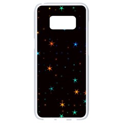 Awesome Allover Stars 02e Samsung Galaxy S8 White Seamless Case by MoreColorsinLife
