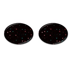 Awesome Allover Stars 02f Cufflinks (oval) by MoreColorsinLife