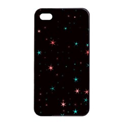 Awesome Allover Stars 02f Apple Iphone 4/4s Seamless Case (black) by MoreColorsinLife