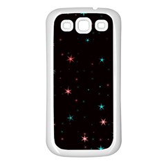 Awesome Allover Stars 02f Samsung Galaxy S3 Back Case (white) by MoreColorsinLife