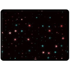 Awesome Allover Stars 02f Double Sided Fleece Blanket (large)  by MoreColorsinLife