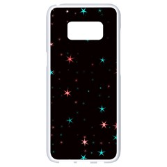 Awesome Allover Stars 02f Samsung Galaxy S8 White Seamless Case by MoreColorsinLife