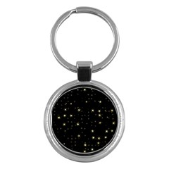 Awesome Allover Stars 02a Key Chains (round)  by MoreColorsinLife