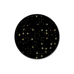 Awesome Allover Stars 02a Magnet 3  (round) by MoreColorsinLife
