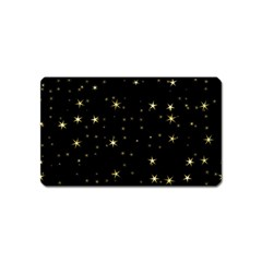 Awesome Allover Stars 02a Magnet (name Card) by MoreColorsinLife