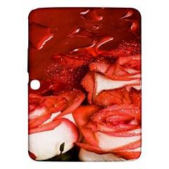 Nice Rose With Water Samsung Galaxy Tab 3 (10 1 ) P5200 Hardshell Case  by BangZart