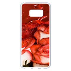 Nice Rose With Water Samsung Galaxy S8 Plus White Seamless Case