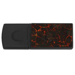 Volcanic Textures Usb Flash Drive Rectangular (4 Gb) by BangZart