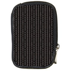 Dark Black Mesh Patterns Compact Camera Cases by BangZart