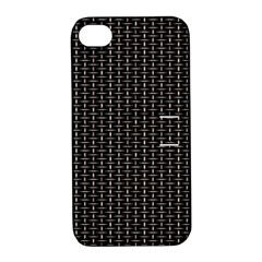 Dark Black Mesh Patterns Apple Iphone 4/4s Hardshell Case With Stand by BangZart