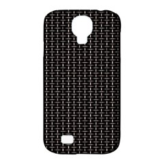 Dark Black Mesh Patterns Samsung Galaxy S4 Classic Hardshell Case (pc+silicone) by BangZart