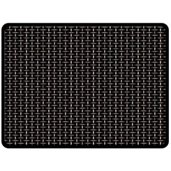 Dark Black Mesh Patterns Double Sided Fleece Blanket (large)