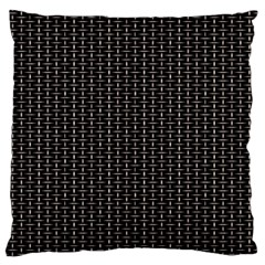 Dark Black Mesh Patterns Large Flano Cushion Case (one Side)