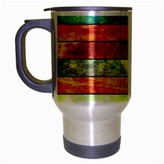 Stripes Color Oil Travel Mug (silver Gray) by BangZart