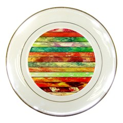 Stripes Color Oil Porcelain Plates